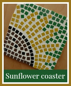 Sunflower coaster craft