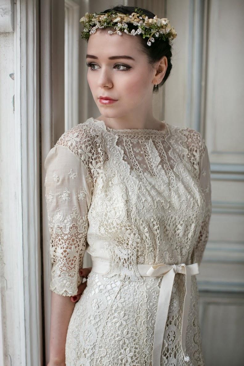 Edwardian lace wedding dresses: two rare original beauties ...