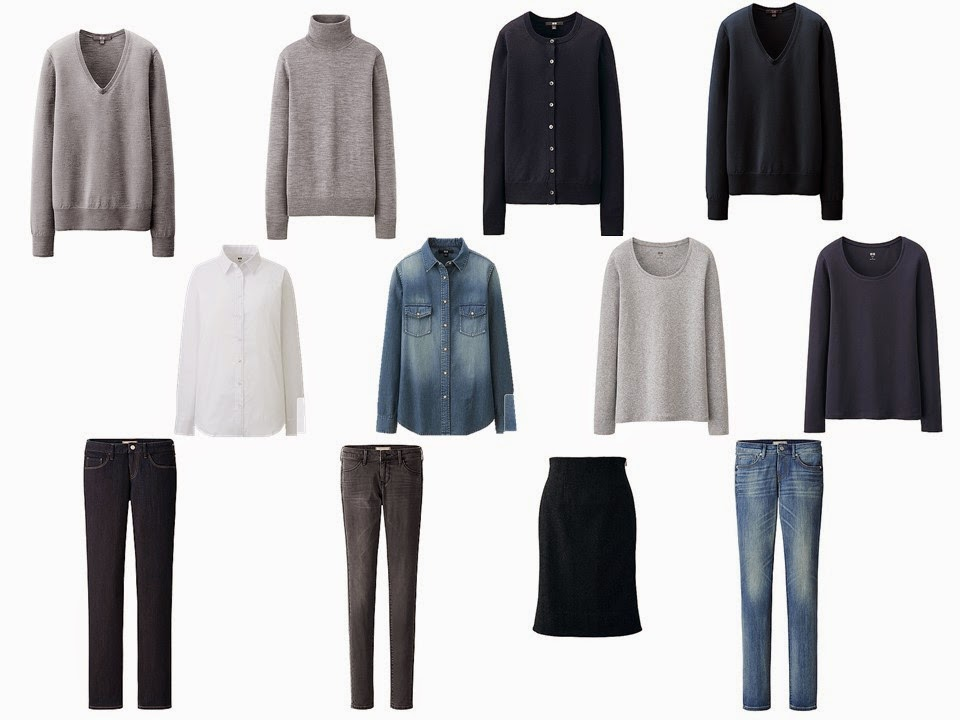12 Piece French inspired capsule wardrobe