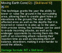 naruto castle defense 6.0 Moving Earth Core detail