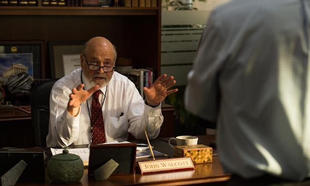 News editor at his desk