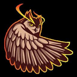 logo burung hantu transparan