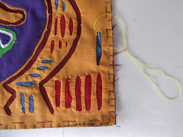 mola slits, how to reverse applique