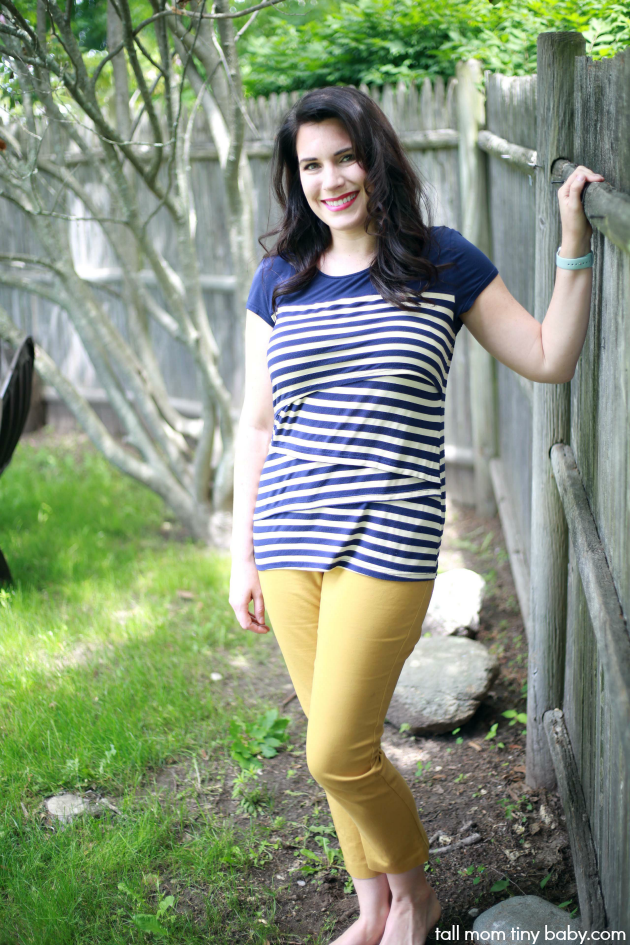 Super cute and nursing and breastfeeding top for new moms - Milk Nursingwear shirt Review