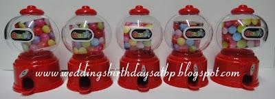 Weddings Birthdays Atbp Mini Gumball Machines
