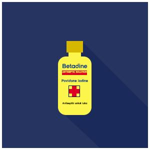 Betadine Antiseptic Solution, Antiseptik Untuk Luka