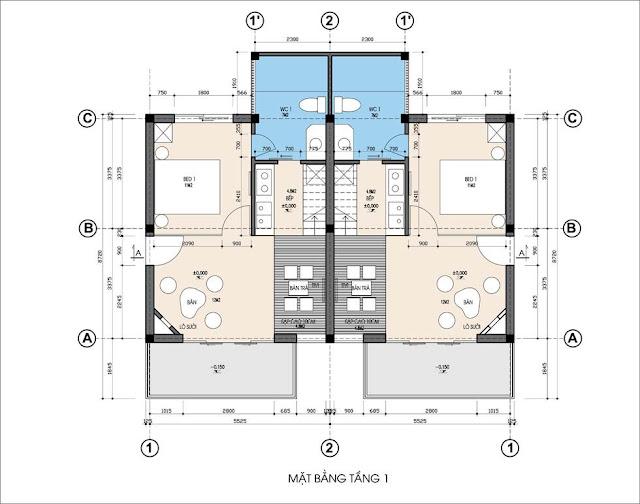 Mặt bằng thiết kế biệt thự Ohara Villa