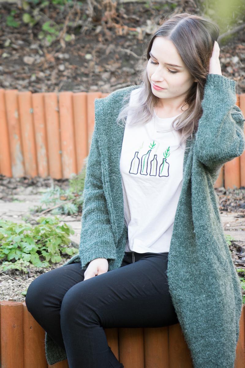 romwe clothing elf elfin outfit casual wear cardigan skinny jeans ootd