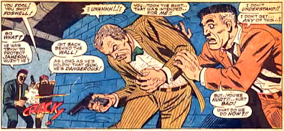 Amazing Spider-Man #52, john romita, as j jonah jameson watches, fred foswell is shot by the kingpin's goons