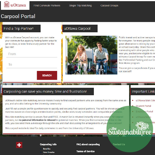 uOttawa carpool website login