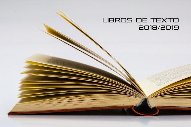 Libros de texto para el curso 2018/2019. ACTUALIZADO EL 12/09/18