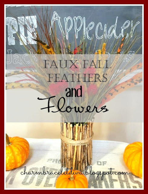 DIY Faux Fall Feathers and Flowers