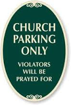 church car park