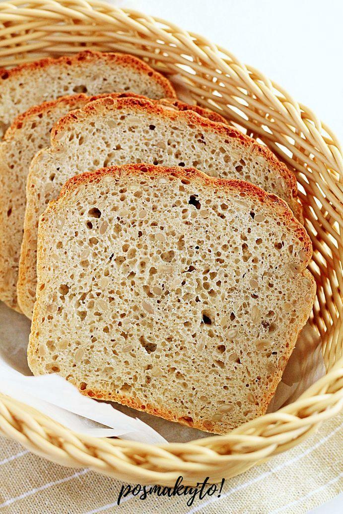 prosty chleb pszenno-zytni ze slonecznikiem bez wyrabiania