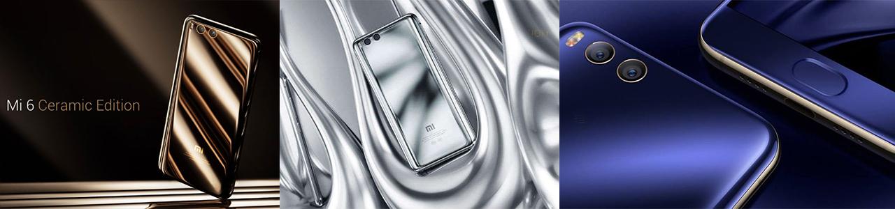 Xiaomi Mi 6 colors ceramic silver blue thetechsite banner