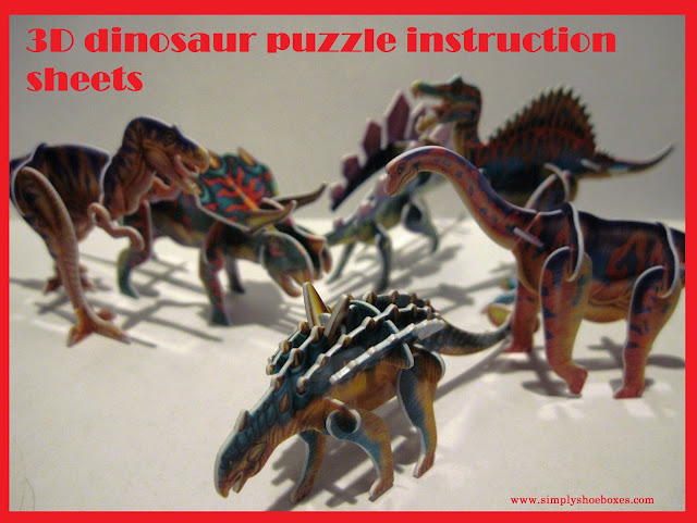 3d dinosaur puzzles from H&J Closeouts - how to build instructions.