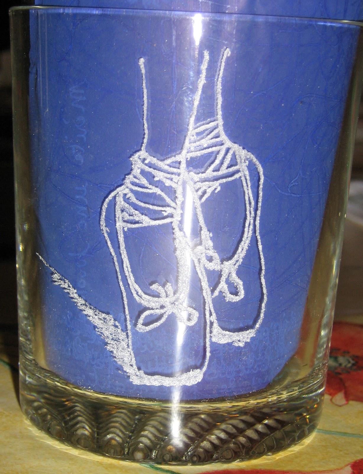 Montfrialoux gravure, expo de gravure sur verre: verre \