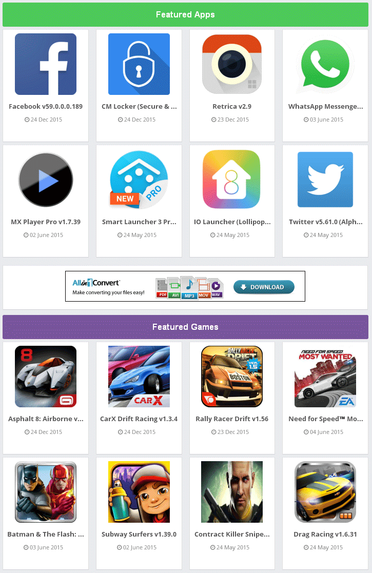 Blue APK - Responsive and SEO Blogger Template