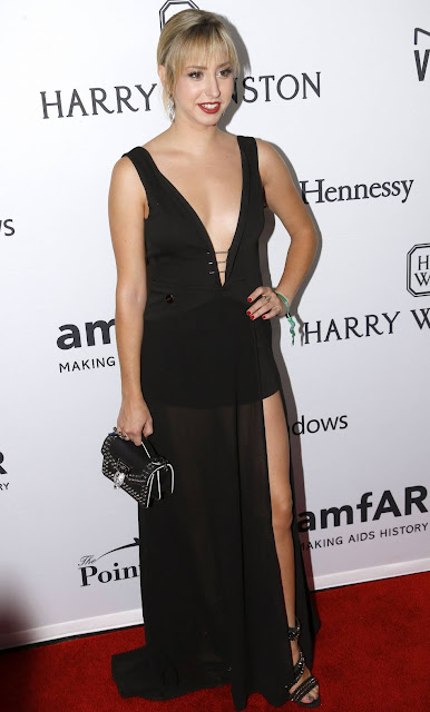 Jazmin Grace Grimaldi attends the 7th Annual amfAR Inspiration Gala New York