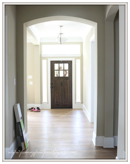 Farmhouse Foyer-Oak Flooring- From My Front Porch To Yours