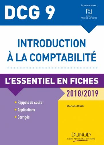DCG 9 - Introduction à la comptabilité - 2018/2019 - 9e édition PDF