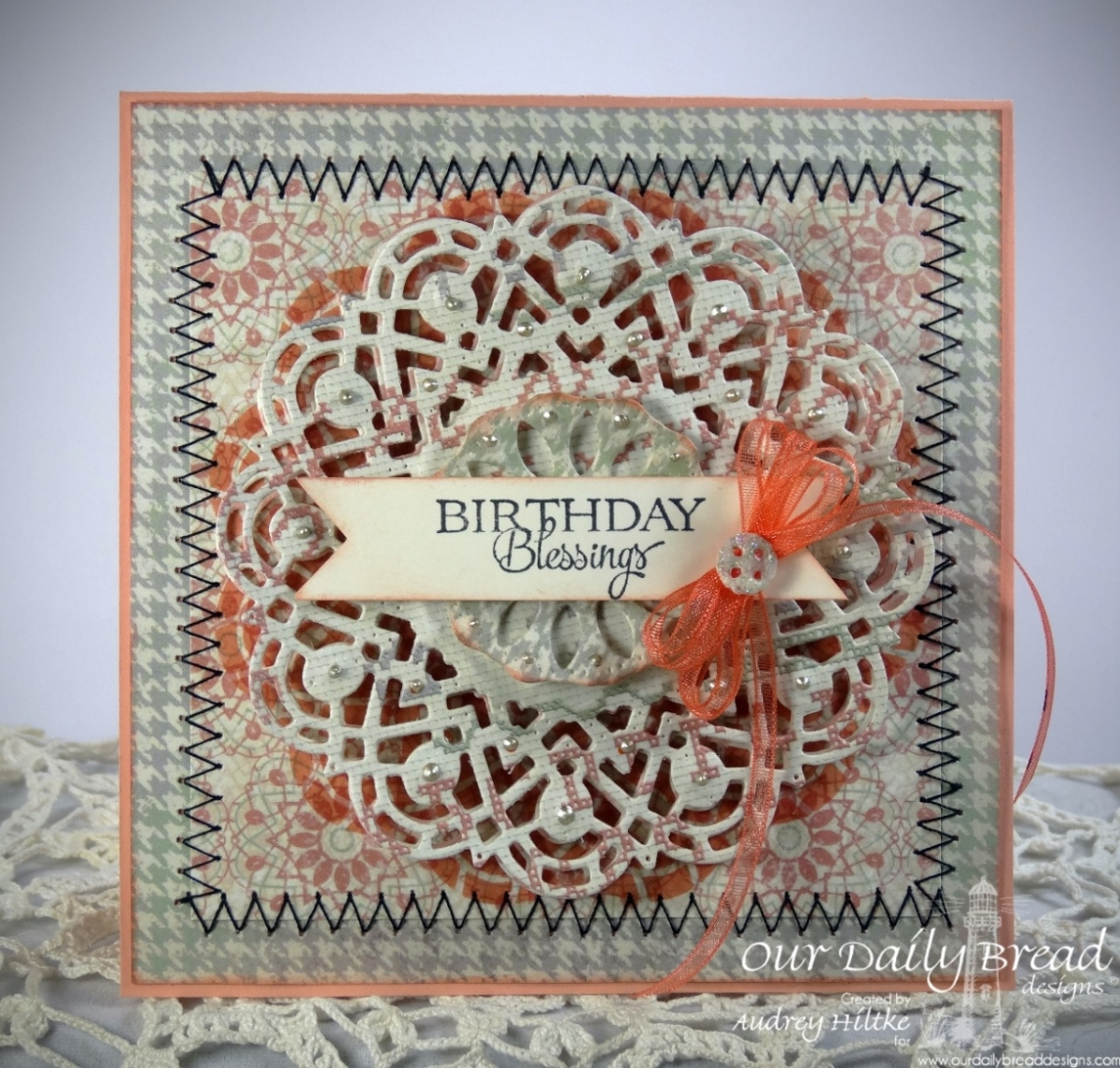 Stamps - Our Daily Bread Designs Birthday Doily, ODBD Custom Doily Die, ODBD Soulful Stitches Paper Collection