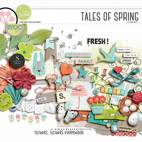 Tales Of Spring | Papers by Pink Reptile Designs