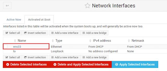 Konfigurasi Interface Menggunakan Webmin