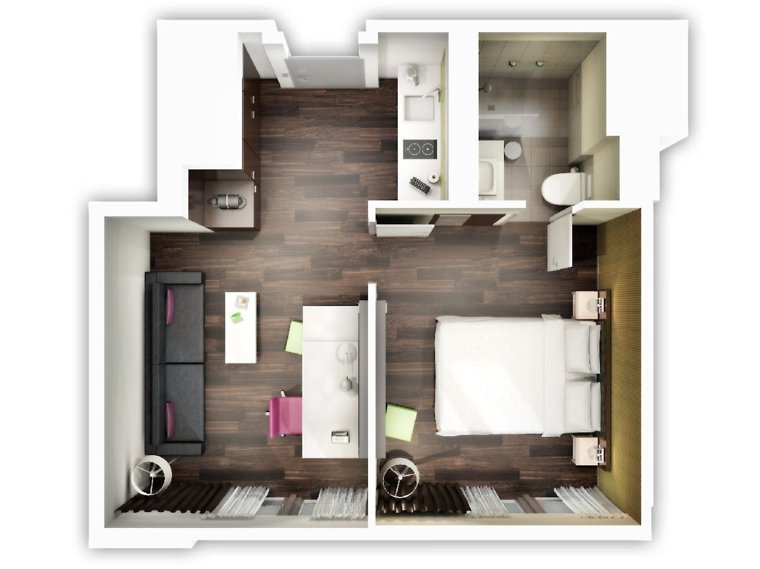 Creative one bedroom house plans that promote eco friendly Single room house design