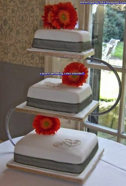 Most Popular Square Wedding Cake Stands Personalize For Your