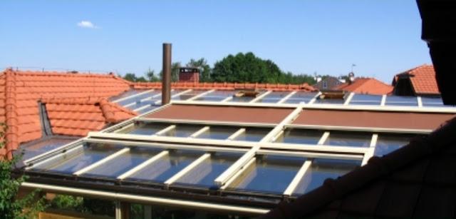 markiza dachowa, przeciwsłoneczna, sterowana elektrycznie,