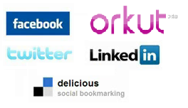 social networking websites - facebook, twitter, delicious, orkut, linkedin