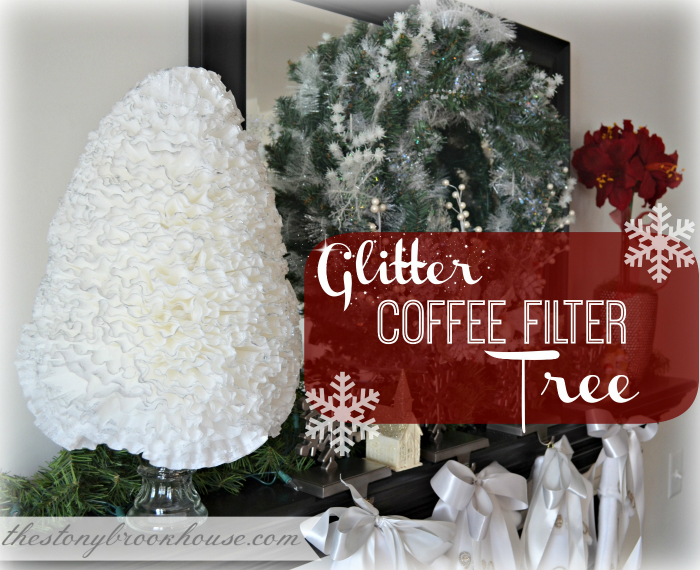 Glitter Coffee Filter Tree