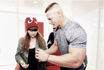 John Cena at launch of Nintendo switch game console