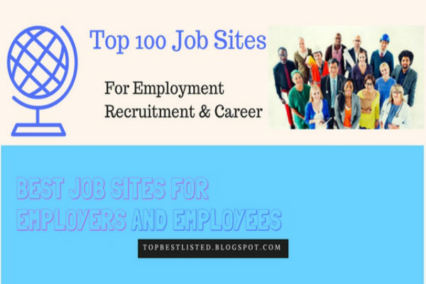 Top100 Job Sites for Employment Recruitment and Career-600x400