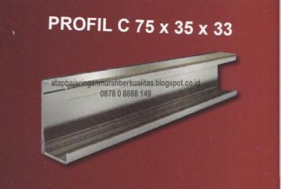 Jenis ukuran rangka atap baja ringan
