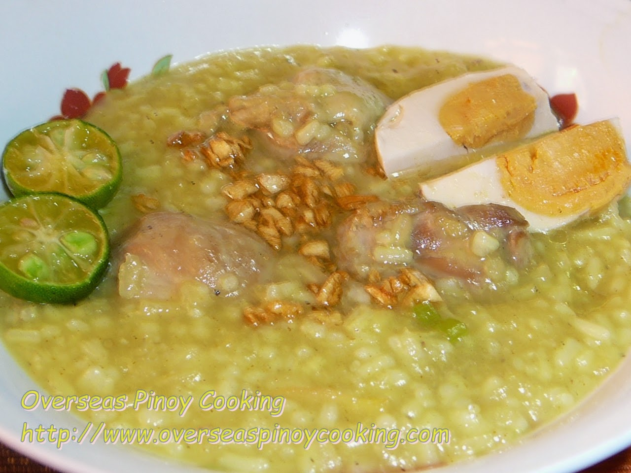 Arroz Caldo with Salted Egg