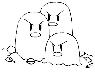 colorea dibujos de dugtrio