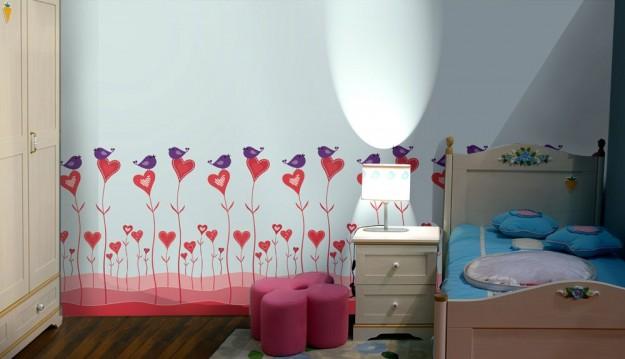 Arredare con amore buon s valentino architettura e for Ikea carta da parati