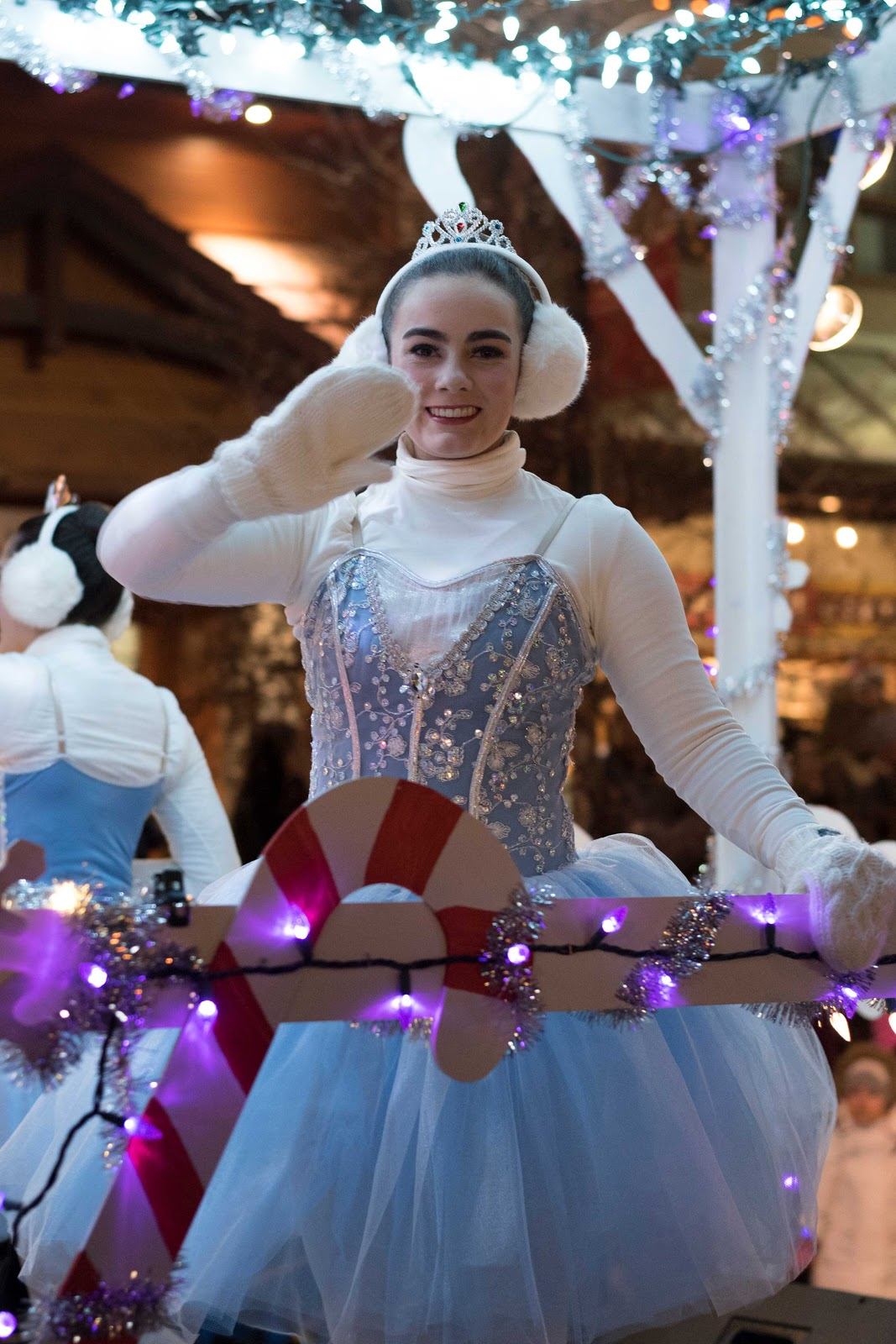 Santa parade, ballerina, Banff
