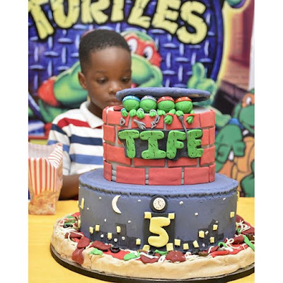 Wizkid throws first son Boluwatife a Ninja themed 5th birthday party (see photos)
