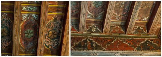 Artesonado del claustro romanico de santo Domingo de Silos