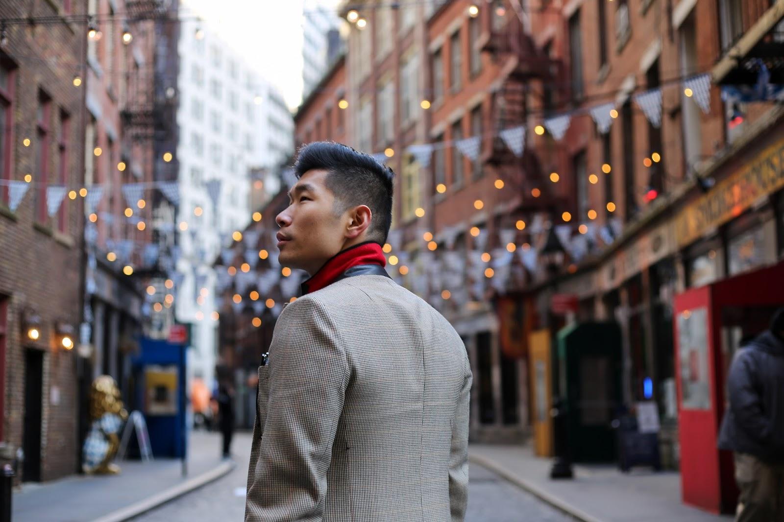 Levitate Style, menswear blogger, wearing Rag & Bone Dagger Topcoat and Striped Sweater
