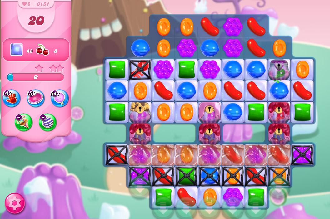 Candy Crush Saga level 6151