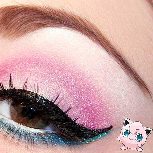 maquillaje ojos pokemon go : jigglypuff