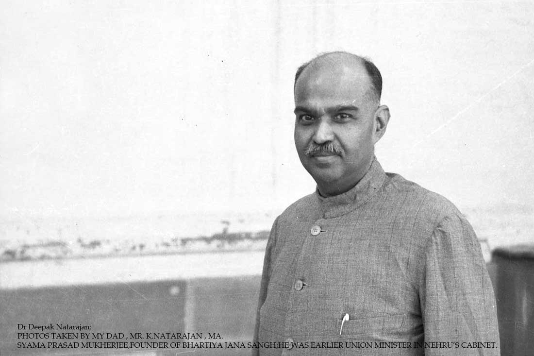 Syama Prasad Mukherjee,Founder Of Bhartiya Jana Sangh;He Was Earlier Union Minister In Nehru's Cabinet