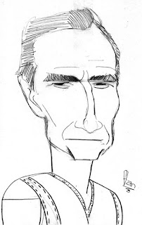 Charlton Heston (Ben Hur) Caricature by Ian Davy Brown