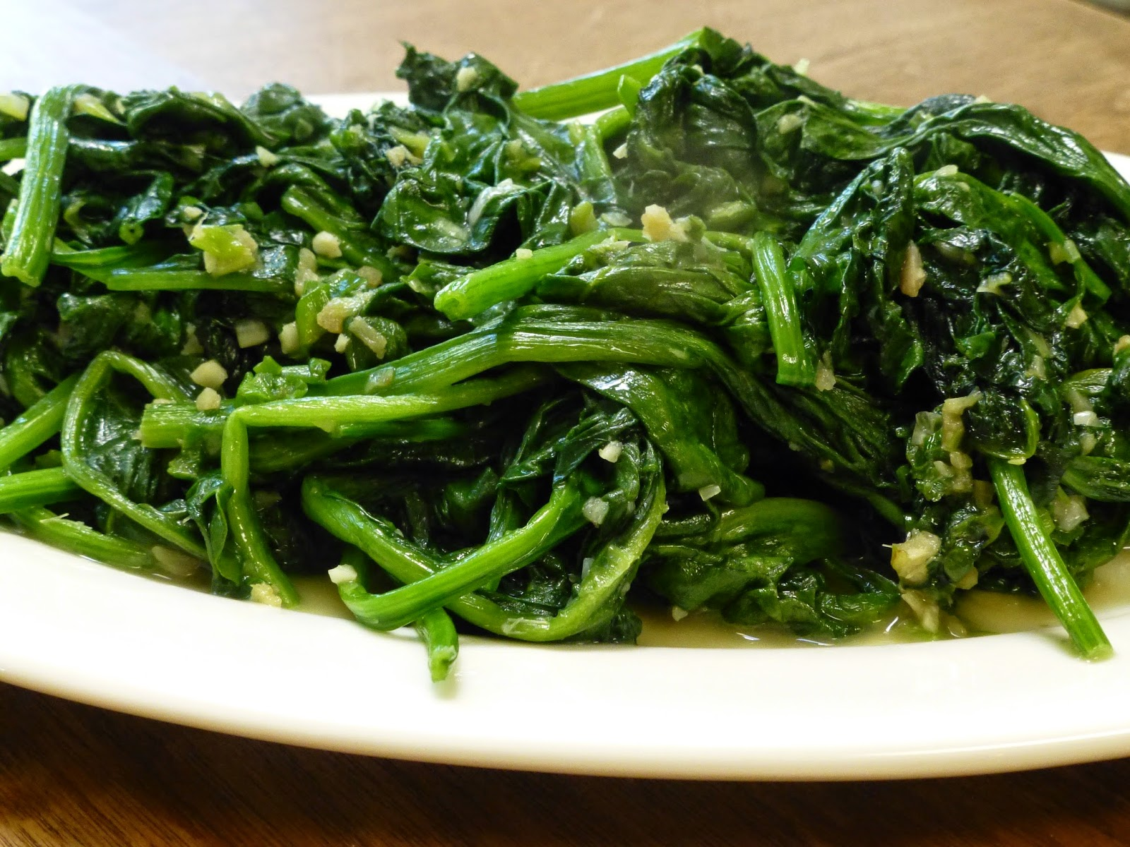 COOK WITH SUSAN: Chinese Spinach with ginger, garlic and ...