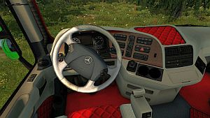 White & Red interior for Actros 2009