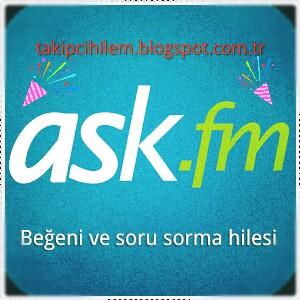 ask.fm Beğeni ve soru sorma hilesi